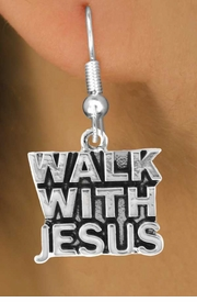 "<bR>                EXCLUSIVELY OURS!!<Br>          AN ALLAN ROBIN DESIGN!!<BR> CLICK HERE TO SEE 120+ EXCITING<BR>    CHANGES THAT YOU CAN MAKE!<BR>               LEAD & NICKEL FREE!!<BR>      W637SE - ""WALK WITH JESUS""<Br>      & EARRINGS FROM $4.50 TO $8.35"