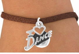 "<bR>              EXCLUSIVELY OURS!!<Br>        AN ALLAN ROBIN DESIGN!!<BR>CLICK HERE TO SEE 120+ EXCITING<BR>  CHANGES THAT YOU CAN MAKE!<BR>             LEAD & NICKEL FREE!!<BR>        W639SB - ""I LOVE DANCE""<Br>     & BRACELET AS LOW AS $4.50"