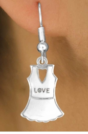 "<bR>                EXCLUSIVELY OURS!!<Br>          AN ALLAN ROBIN DESIGN!!<BR> CLICK HERE TO SEE 120+ EXCITING<BR>    CHANGES THAT YOU CAN MAKE!<BR>               LEAD & NICKEL FREE!!<BR>   W644SE - ""LOVE"" TENNIS DRESS<Br>       & EARRINGS FROM $4.50 TO $8.35"