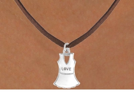 "<bR>              EXCLUSIVELY OURS!!<Br>         AN ALLAN ROBIN DESIGN!!<BR>CLICK HERE TO SEE 120+ EXCITING<BR>  CHANGES THAT YOU CAN MAKE!<BR>             LEAD & NICKEL FREE!!<BR> W644SN - ""LOVE"" TENNIS DRESS<BR>     & NECKLACE AS LOW AS $4.05"