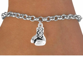 <bR>              EXCLUSIVELY OURS!!<Br>        AN ALLAN ROBIN DESIGN!!<BR>CLICK HERE TO SEE 120+ EXCITING<BR>  CHANGES THAT YOU CAN MAKE!<BR>             LEAD & NICKEL FREE!!<BR> W645SB - SILVER BOXING GLOVE<Br> & BRACELET FROM $4.50 TO $8.35