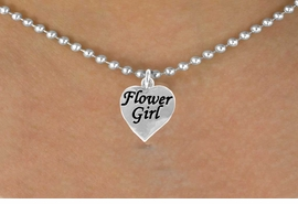 "<bR>               EXCLUSIVELY OURS!!<Br>          AN ALLAN ROBIN DESIGN!!<BR>CLICK HERE TO SEE 120+ EXCITING<BR>   CHANGES THAT YOU CAN MAKE!<BR>              LEAD & NICKEL FREE!!<BR> W651SN - ""FLOWER GIRL"" HEART<BR>    & NECKLACE AS LOW AS $4.05"