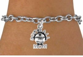 "<bR>               EXCLUSIVELY OURS!!<Br>         AN ALLAN ROBIN DESIGN!!<BR>CLICK HERE TO SEE 120+ EXCITING<BR>   CHANGES THAT YOU CAN MAKE!<BR>              LEAD & NICKEL FREE!!<BR>      W652SB - ""SOFTBALL MOM""<Br>     & BRACELET FROM $4.50 TO $8.35"