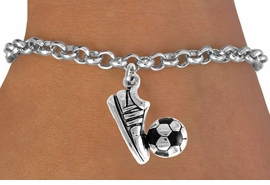 <bR>               EXCLUSIVELY OURS!!<Br>         AN ALLAN ROBIN DESIGN!!<BR>CLICK HERE TO SEE 120+ EXCITING<BR>   CHANGES THAT YOU CAN MAKE!<BR>              LEAD & NICKEL FREE!!<BR>  W655SB - SOCCER BALL & SHOE<Br>      & BRACELET AS LOW AS $3.65
