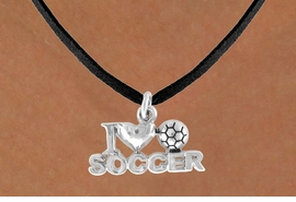"<bR>              EXCLUSIVELY OURS!!<Br>         AN ALLAN ROBIN DESIGN!!<BR>CLICK HERE TO SEE 120+ EXCITING<BR>   CHANGES THAT YOU CAN MAKE!<BR>             LEAD & NICKEL FREE!!<BR>        W656SN - ""I LOVE SOCCER""<BR>     & NECKLACE AS LOW AS $4.05"