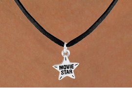 "<bR>               EXCLUSIVELY OURS!!<Br>         AN ALLAN ROBIN DESIGN!!<BR>CLICK HERE TO SEE 120+ EXCITING<BR>  CHANGES THAT YOU CAN MAKE!<BR>              LEAD & NICKEL FREE!!<BR>W660SN -  ""MOVIE STAR"" CHARM<Br>  NECKLACE FROM $4.50 TO $8.35"
