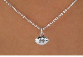 <bR>               EXCLUSIVELY OURS!!<Br>         AN ALLAN ROBIN DESIGN!!<BR>CLICK HERE TO SEE 120+ EXCITING<BR>   CHANGES THAT YOU CAN MAKE!<BR>              LEAD & NICKEL FREE!!<BR>       W661SN -  RUGBY CHARM &<Br>   NECKLACE FROM $4.50 TO $8.35
