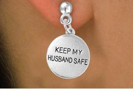 "<bR>                  EXCLUSIVELY OURS!!<Br>           AN ALLAN ROBIN DESIGN!!<BR>   CLICK HERE TO SEE 120+ EXCITING<BR>      CHANGES THAT YOU CAN MAKE!<BR>                 LEAD & NICKEL FREE!!<BR>W663SE -  ""KEEP MY HUSBAND SAFE""<br>             CHARM & EARRING FROM<bR>                        $4.50 TO $8.35"