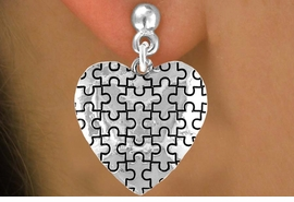 <bR>               EXCLUSIVELY OURS!!<Br>         AN ALLAN ROBIN DESIGN!!<BR>CLICK HERE TO SEE 120+ EXCITING<BR>   CHANGES THAT YOU CAN MAKE!<BR>              LEAD & NICKEL FREE!!<BR>        W665SE -  PUFFED AUTISM<Br> AWARENESS PUZZLE PIECE HEART<bR>          & EARRINGS ©2010 FROM<br>                     $3.70 TO $8.45