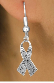 <bR>               EXCLUSIVELY OURS!!<Br>         AN ALLAN ROBIN DESIGN!!<BR>CLICK HERE TO SEE 120+ EXCITING<BR>   CHANGES THAT YOU CAN MAKE!<BR>              LEAD & NICKEL FREE!!<BR>  W666SE -  AUTISM AWARENESS<Br>PUZZLE PIECE RIBBON & EARRINGS<bR>       ©2010 FROM $3.70 TO $8.45
