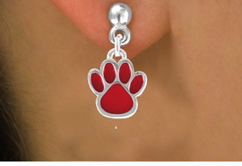 <bR>                 EXCLUSIVELY OURS!!<Br>          AN ALLAN ROBIN DESIGN!!<BR>CLICK HERE TO SEE 120+ EXCITING<BR>   CHANGES THAT YOU CAN MAKE!<BR>              LEAD & NICKEL FREE!!<BR>      W667SE - SMALL RED PAW CHARM &<BR>    EARRING FROM $4.50 TO $8.35