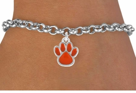 <bR>               EXCLUSIVELY OURS!!<Br>         AN ALLAN ROBIN DESIGN!!<BR>CLICK HERE TO SEE 120+ EXCITING<BR>   CHANGES THAT YOU CAN MAKE!<BR>              LEAD & NICKEL FREE!!<BR>W670SB - SMALL ORANGE PAW CHARM &<Br>   BRACELET FROM $4.50 TO $8.35