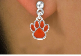 <bR>                 EXCLUSIVELY OURS!!<Br>          AN ALLAN ROBIN DESIGN!!<BR>CLICK HERE TO SEE 120+ EXCITING<BR>   CHANGES THAT YOU CAN MAKE!<BR>              LEAD & NICKEL FREE!!<BR>   W670SE - SMALL ORANGE PAW CHARM<BR> & EARRING FROM $4.50 TO $8.35