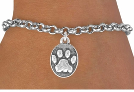 <bR>               EXCLUSIVELY OURS!!<Br>         AN ALLAN ROBIN DESIGN!!<BR>CLICK HERE TO SEE 120+ EXCITING<BR>   CHANGES THAT YOU CAN MAKE!<BR>              LEAD & NICKEL FREE!!<BR>    W671SB - OVAL PAW CHARM &<Br>   BRACELET FROM $4.50 TO $8.35