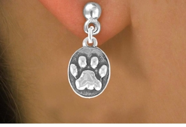 <bR>                 EXCLUSIVELY OURS!!<Br>          AN ALLAN ROBIN DESIGN!!<BR>CLICK HERE TO SEE 120+ EXCITING<BR>   CHANGES THAT YOU CAN MAKE!<BR>              LEAD & NICKEL FREE!!<BR>    W671SE - OVAL PAW CHARM &<BR>    EARRING FROM $4.50 TO $8.35