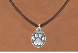 <bR>                 EXCLUSIVELY OURS!!<Br>           AN ALLAN ROBIN DESIGN!!<BR>  CLICK HERE TO SEE 120+ EXCITING<BR>     CHANGES THAT YOU CAN MAKE!<BR>                LEAD & NICKEL FREE!!<BR>      W671SN - OVAL PAW CHARM &<BR>     NECKLACE FROM $4.50 TO $8.35