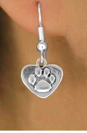 <bR>                 EXCLUSIVELY OURS!!<Br>          AN ALLAN ROBIN DESIGN!!<BR>CLICK HERE TO SEE 120+ EXCITING<BR>   CHANGES THAT YOU CAN MAKE!<BR>              LEAD & NICKEL FREE!!<BR>   W673SE - PAW HEART CHARM &<BR>    EARRING FROM $4.50 TO $8.35