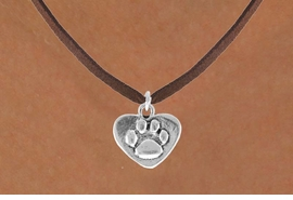 <bR>                 EXCLUSIVELY OURS!!<Br>           AN ALLAN ROBIN DESIGN!!<BR>  CLICK HERE TO SEE 120+ EXCITING<BR>     CHANGES THAT YOU CAN MAKE!<BR>                LEAD & NICKEL FREE!!<BR>    W673SN - PAW HEART CHARM &<BR>    NECKLACE FROM $4.50 TO $8.35