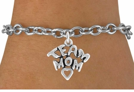 "<bR>               EXCLUSIVELY OURS!!<Br>         AN ALLAN ROBIN DESIGN!!<BR>CLICK HERE TO SEE 120+ EXCITING<BR>   CHANGES THAT YOU CAN MAKE!<BR>              LEAD & NICKEL FREE!!<BR>  W682SB - ""TEAM MOM"" CHARM<Br>   BRACELET FROM $4.50 TO $8.35"