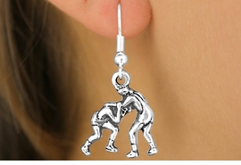 <bR>                EXCLUSIVELY OURS!!<Br>          AN ALLAN ROBIN DESIGN!!<BR> CLICK HERE TO SEE 120+ EXCITING<BR>    CHANGES THAT YOU CAN MAKE!<BR>               LEAD & NICKEL FREE!!<BR>   W683SE - WRESTLERS CHARM &<BR>    EARRINGS FROM $4.50 TO $8.35