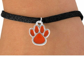 <bR>               EXCLUSIVELY OURS!!<Br>         AN ALLAN ROBIN DESIGN!!<BR>CLICK HERE TO SEE 120+ EXCITING<BR>   CHANGES THAT YOU CAN MAKE!<BR>              LEAD & NICKEL FREE!!<BR> W686SB - MEDIUM ORANGE PAW &<Br>   BRACELET FROM $4.50 TO $8.35