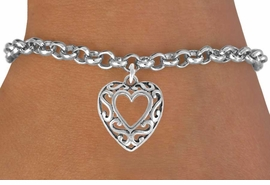 <bR>               EXCLUSIVELY OURS!!<Br>         AN ALLAN ROBIN DESIGN!!<BR>CLICK HERE TO SEE 120+ EXCITING<BR>   CHANGES THAT YOU CAN MAKE!<BR>              LEAD & NICKEL FREE!!<BR>  W689SB - SCROLL WORK HEART<Br>   BRACELET FROM $4.50 TO $8.35