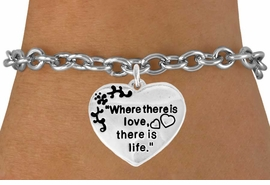 "<bR>               EXCLUSIVELY OURS!!<Br>         AN ALLAN ROBIN DESIGN!!<BR>CLICK HERE TO SEE 120+ EXCITING<BR>   CHANGES THAT YOU CAN MAKE!<BR>              LEAD & NICKEL FREE!!<BR>W704SB - ""WHERE THERE IS LOVE""<Br>            HEART BRACELET FROM<bR>                      $4.50 TO $8.35"