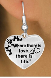 "<bR>                EXCLUSIVELY OURS!!<Br>          AN ALLAN ROBIN DESIGN!!<BR> CLICK HERE TO SEE 120+ EXCITING<BR>    CHANGES THAT YOU CAN MAKE!<BR>               LEAD & NICKEL FREE!!<BR> W704SE - ""WHERE THERE IS LOVE""<BR>  HEART CHARM & EARRINGS FROM<Br>                      $4.50 TO $8.35"