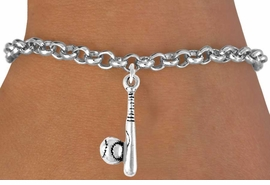 <bR>               EXCLUSIVELY OURS!!<Br>         AN ALLAN ROBIN DESIGN!!<BR>CLICK HERE TO SEE 120+ EXCITING<BR>   CHANGES THAT YOU CAN MAKE!<BR>              LEAD & NICKEL FREE!!<BR>   W705SB - BASEBALL/SOFTBALL<Br>       BALL & BAT BRACELET FROM<bR>                      $4.50 TO $8.35