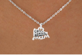 "<bR>                 EXCLUSIVELY OURS!!<Br>           AN ALLAN ROBIN DESIGN!!<BR>  CLICK HERE TO SEE 120+ EXCITING<BR>     CHANGES THAT YOU CAN MAKE!<BR>                LEAD & NICKEL FREE!!<BR>  W711SN - ""CHEERLEADER MOM"" &<BR>     NECKLACE FROM $4.50 TO $8.35"