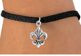 "<bR>               EXCLUSIVELY OURS!!<Br>          AN ALLAN ROBIN DESIGN!!<BR> CLICK HERE TO SEE 120+ EXCITING<BR>    CHANGES THAT YOU CAN MAKE!<BR>               LEAD & NICKEL FREE!!<BR> W716SB -  ""FLEUR DE LIS"" CHARM<Br>    BRACELET FROM $4.50 TO $8.35<Br>                                ©2010"