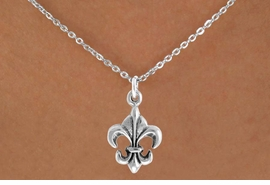"<bR>               EXCLUSIVELY OURS!!<Br>         AN ALLAN ROBIN DESIGN!!<BR>CLICK HERE TO SEE 120+ EXCITING<BR>   CHANGES THAT YOU CAN MAKE!<BR>              LEAD & NICKEL FREE!!<BR> W716SN - ""FLEUR DE LIS"" CHARM<BR>& NECKLACE FROM $4.50 TO $8.35<bR>                               ©2010"