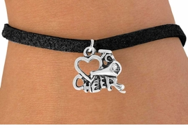 "<bR>                 EXCLUSIVELY OURS!!<Br>           AN ALLAN ROBIN DESIGN!!<BR>  CLICK HERE TO SEE 120+ EXCITING<BR>     CHANGES THAT YOU CAN MAKE!<BR>                LEAD & NICKEL FREE!!<BR>        W717SB - ""LOVE TO CHEER"" &<Br>      BRACELET FROM $4.50 TO $8.35"