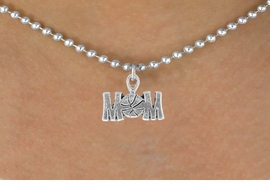 "<bR>                 EXCLUSIVELY OURS!!<Br>           AN ALLAN ROBIN DESIGN!!<BR>  CLICK HERE TO SEE 120+ EXCITING<BR>     CHANGES THAT YOU CAN MAKE!<BR>                LEAD & NICKEL FREE!!<BR>   W733SN - ""BASKETBALL MOM"" &<BR>     NECKLACE FROM $4.50 TO $8.35"