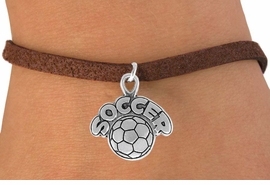 "<bR>                 EXCLUSIVELY OURS!!<Br>           AN ALLAN ROBIN DESIGN!!<BR>  CLICK HERE TO SEE 120+ EXCITING<BR>     CHANGES THAT YOU CAN MAKE!<BR>                LEAD & NICKEL FREE!!<BR>        W734SB - ""SOCCER"" & BALL<Br>     BRACELET FROM $4.50 TO $8.35"