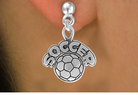 "<bR>                 EXCLUSIVELY OURS!!<Br>           AN ALLAN ROBIN DESIGN!!<BR>  CLICK HERE TO SEE 120+ EXCITING<BR>     CHANGES THAT YOU CAN MAKE!<BR>                LEAD & NICKEL FREE!!<BR>         W734SE - ""SOCCER"" & BALL<BR>    EARRINGS FROM $4.50 TO $8.35"