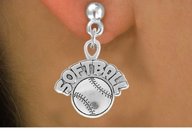 "<bR>                 EXCLUSIVELY OURS!!<Br>           AN ALLAN ROBIN DESIGN!!<BR>  CLICK HERE TO SEE 120+ EXCITING<BR>     CHANGES THAT YOU CAN MAKE!<BR>                LEAD & NICKEL FREE!!<BR>      W740SE - ""SOFTBALL"" & BALL<BR>     EARRINGS FROM $4.50 TO $8.35"