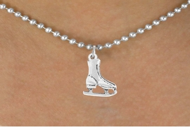 <bR>                 EXCLUSIVELY OURS!!<Br>           AN ALLAN ROBIN DESIGN!!<BR>  CLICK HERE TO SEE 120+ EXCITING<BR>     CHANGES THAT YOU CAN MAKE!<BR>                LEAD & NICKEL FREE!!<BR>   W741SN - SILVER TONE ICE SKATE<BR>     NECKLACE FROM $4.50 TO $8.35