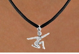 "<bR>                 EXCLUSIVELY OURS!!<Br>           AN ALLAN ROBIN DESIGN!!<BR>  CLICK HERE TO SEE 120+ EXCITING<BR>     CHANGES THAT YOU CAN MAKE!<BR>                LEAD & NICKEL FREE!!<BR>     W743SN - ""FLOOR GYMNAST"" &<BR>     NECKLACE FROM $4.50 TO $8.35"