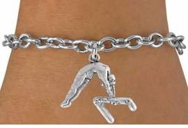 "<bR>                 EXCLUSIVELY OURS!!<Br>           AN ALLAN ROBIN DESIGN!!<BR>  CLICK HERE TO SEE 120+ EXCITING<BR>     CHANGES THAT YOU CAN MAKE!<BR>                LEAD & NICKEL FREE!!<BR>   W744SB - ""GYMNAST ON BAR"" &<Br>     BRACELET FROM $4.50 TO $8.35<BR>                                  �2008"