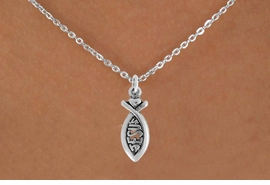 "<bR>                 EXCLUSIVELY OURS!!<Br>           AN ALLAN ROBIN DESIGN!!<BR>  CLICK HERE TO SEE 120+ EXCITING<BR>     CHANGES THAT YOU CAN MAKE!<BR>                LEAD & NICKEL FREE!!<BR>            W747SN - ""JESUS"" FISH &<BR>     NECKLACE FROM $4.50 TO $8.35"