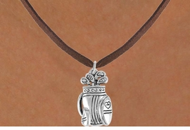 <bR>                 EXCLUSIVELY OURS!!<Br>           AN ALLAN ROBIN DESIGN!!<BR>  CLICK HERE TO SEE 120+ EXCITING<BR>     CHANGES THAT YOU CAN MAKE!<BR>                LEAD & NICKEL FREE!!<BR>      W752SN - GOLF BAG CHARM &<BR>     NECKLACE FROM $4.50 TO $8.35
