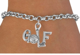 """<bR>                 EXCLUSIVELY OURS!!<Br>           AN ALLAN ROBIN DESIGN!!<BR>  CLICK HERE TO SEE 120+ EXCITING<BR>     CHANGES THAT YOU CAN MAKE!<BR>                LEAD & NICKEL FREE!!<BR>         W753SB - """"GOLF"""" CHARM &<Br>     BRACELET FROM $4.50 TO $8.35"""