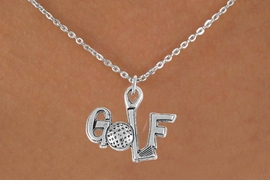 "<bR>                 EXCLUSIVELY OURS!!<Br>           AN ALLAN ROBIN DESIGN!!<BR>  CLICK HERE TO SEE 120+ EXCITING<BR>     CHANGES THAT YOU CAN MAKE!<BR>                LEAD & NICKEL FREE!!<BR>         W753SN - ""GOLF"" CHARM &<BR>     NECKLACE FROM $4.50 TO $8.35"
