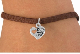"<bR>                 EXCLUSIVELY OURS!!<Br>           AN ALLAN ROBIN DESIGN!!<BR>  CLICK HERE TO SEE 120+ EXCITING<BR>     CHANGES THAT YOU CAN MAKE!<BR>                LEAD & NICKEL FREE!!<BR>      W756SB - ""FAITH, HOPE, LOVE""<Br>     HEART CHARM BRACELET FROM<Br>                        $4.50 TO $8.35"