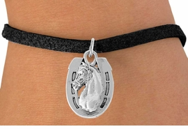<bR>               EXCLUSIVELY OURS!!<Br>         AN ALLAN ROBIN DESIGN!!<BR>CLICK HERE TO SEE 120+ EXCITING<BR>   CHANGES THAT YOU CAN MAKE!<BR>               LEAD & NICKEL FREE!!<BR>  W802SB - HORSESHOE & HORSE<Br>    BRACELET FROM $4.50 TO $8.35