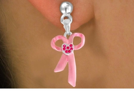 <bR>                EXCLUSIVELY OURS!!<Br>          AN ALLAN ROBIN DESIGN!!<BR> CLICK HERE TO SEE 120+ EXCITING<BR>    CHANGES THAT YOU CAN MAKE!<BR>               LEAD & NICKEL FREE!!<BR>        W817SE - PINK AWARENESS<Br>RIBBON WITH AUSTRIAN CRYSTALS<Br>    EARRINGS FROM $4.10 TO $8.85