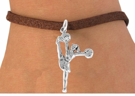 "<bR>                  EXCLUSIVELY OURS!!<Br>            AN ALLAN ROBIN DESIGN!!<BR>   CLICK HERE TO SEE 120+ EXCITING<BR>      CHANGES THAT YOU CAN MAKE!<BR>                 LEAD & NICKEL FREE!!<BR>W833SB - ""HIGH-KICK CHEERLEADER""<Br>       BRACELET FROM $4.50 TO $8.35"