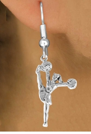 """<bR>                  EXCLUSIVELY OURS!!<Br>            AN ALLAN ROBIN DESIGN!!<BR>   CLICK HERE TO SEE 120+ EXCITING<BR>      CHANGES THAT YOU CAN MAKE!<BR>                 LEAD & NICKEL FREE!!<BR>W833SE - """"HIGH-KICK CHEERLEADER""""<Br>       EARRINGS FROM $4.50 TO $8.35"""