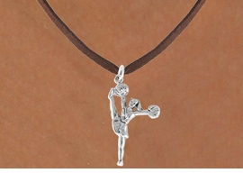 "<bR>                  EXCLUSIVELY OURS!!<Br>            AN ALLAN ROBIN DESIGN!!<BR>   CLICK HERE TO SEE 120+ EXCITING<BR>      CHANGES THAT YOU CAN MAKE!<BR>                 LEAD & NICKEL FREE!!<BR>W833SN - ""HIGH-KICK CHEERLEADER""<Br>       NECKLACE FROM $4.50 TO $8.35"